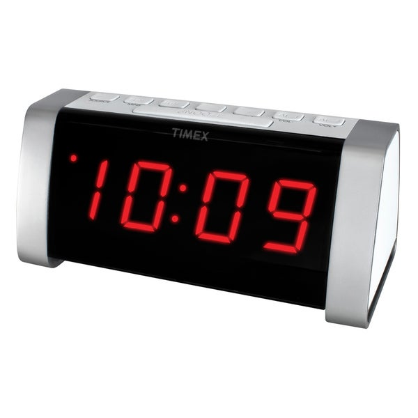 Timex Desktop Red LED Aux-in Clock Radio