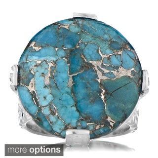 Emiations Genuine Gemstone Cabochon Cocktail Ring