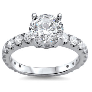 18k White Gold 1 3/5ct TDW Round Diamond Engagement Ring (G-H, SI1-SI2)