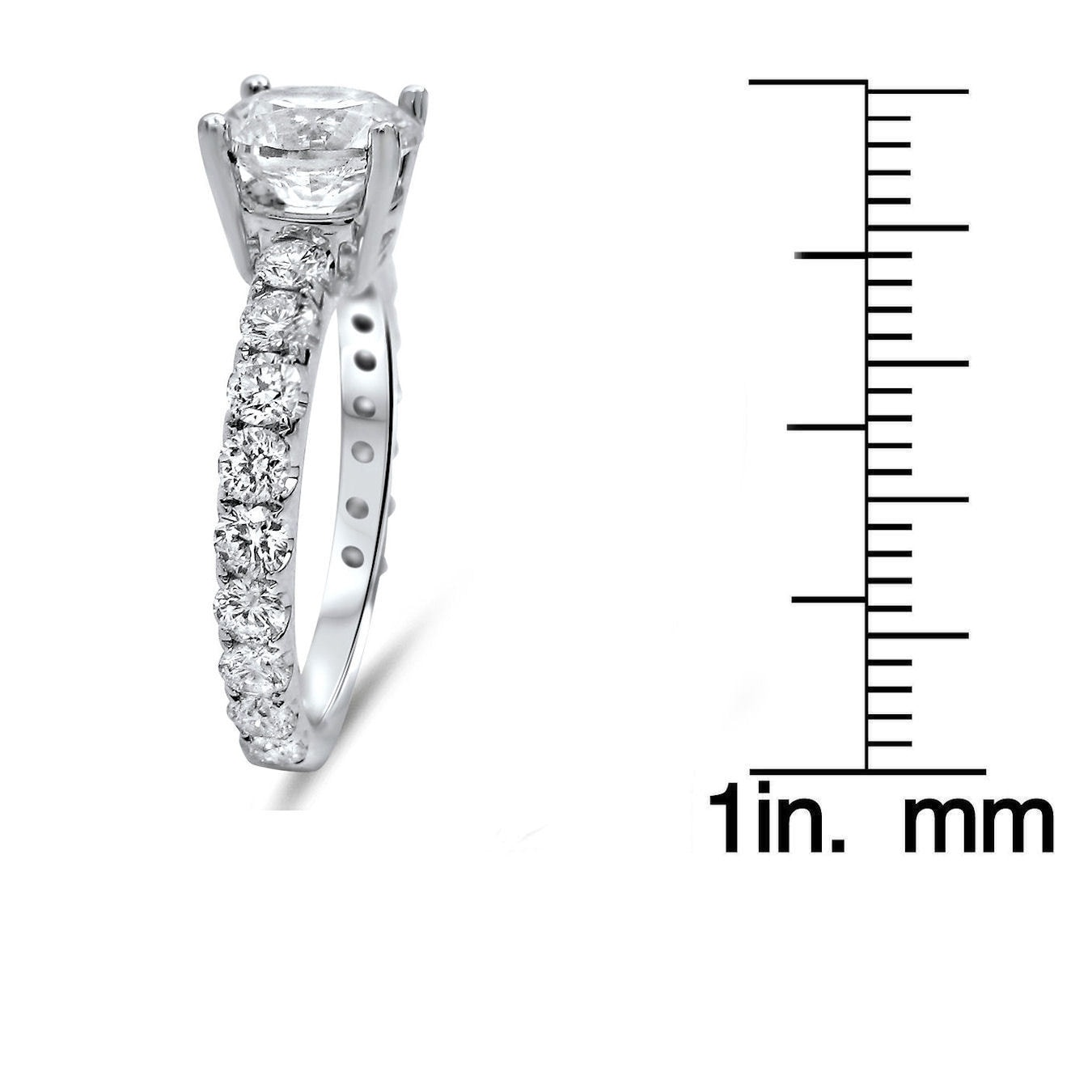 Noori Collection Noori 18k White Gold 1 3/5ct TDW Round Diamond Engagement Ring (G-H, SI1-SI2)