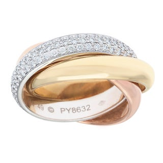 Cartier 18k Gold 1 1/6ct TDW White Diamond Trinity Ring (D-F, VS1)