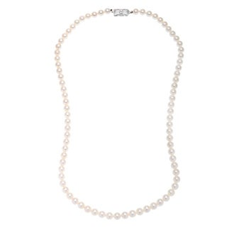Mikimoto E1681 Cultured Freshwater Pearl Estate Necklace ( 6.5-7 mm)
