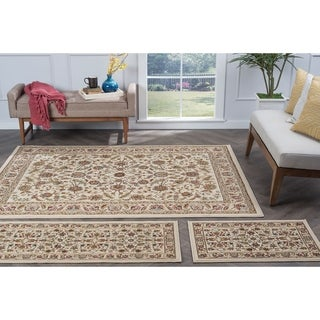 Alise Lagoon Ivory Traditional Area Rugs (Set of 3)