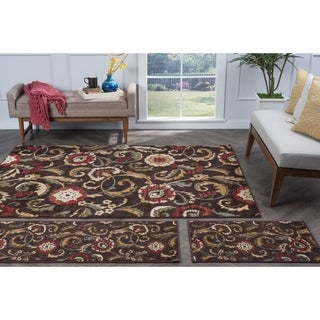 Lagoon Brown Transitional Area Rug Set