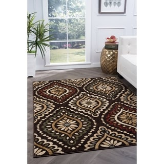 Lagoon Brown Transitional Area Rug (5' x 7')