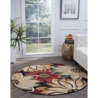 Lagoon Black Transitional Area Rug (5'3 Round)