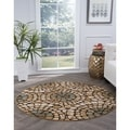 Lagoon Multi Transitional Area Rug (5'3 Round)