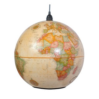 World Globe Antique Light