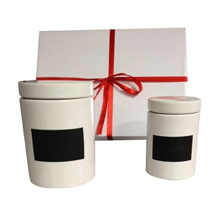 KitchenWorthy Two-piece Canister Set