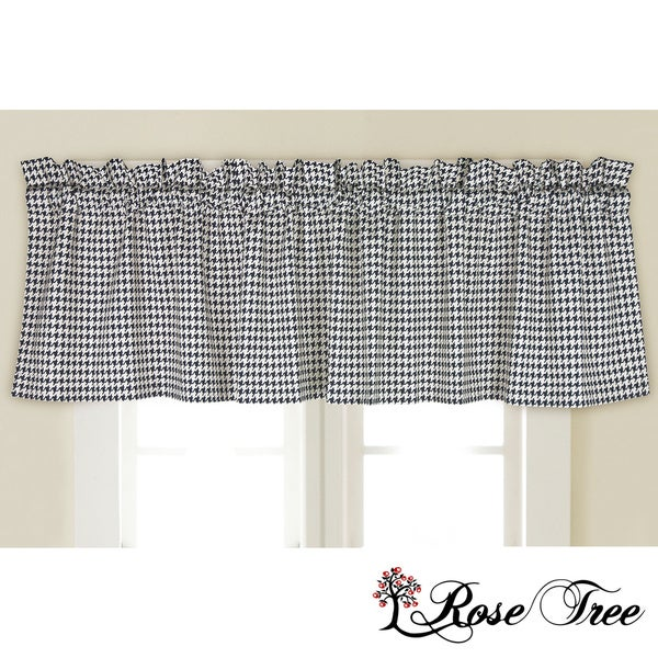 Rose Tree Houndstooth Window Valance