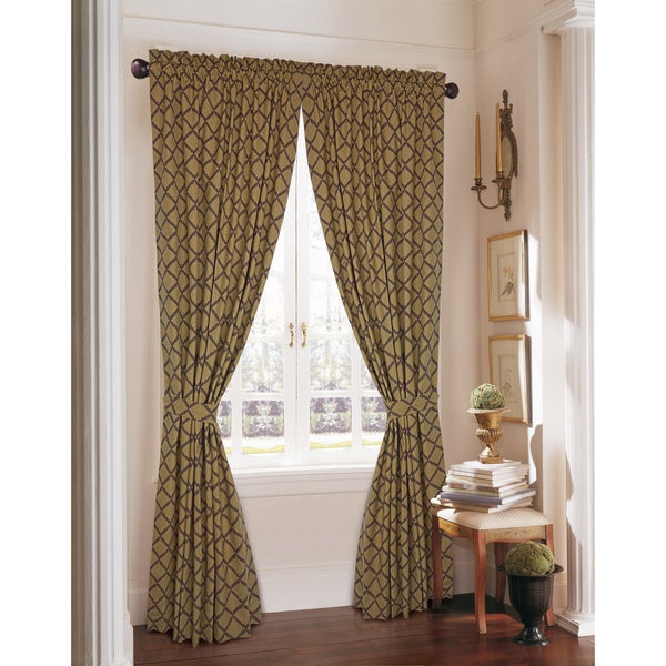 Rose Tree Barclay Trellis 86-inch Curtain Panel Pair