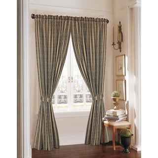 Rose Tree Tanzier Stripe 86-inch Curtain Panel Pair