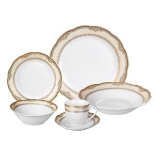 Lorren Home Trends 'Isabella' 24-piece Porcelain Dinnerware Set