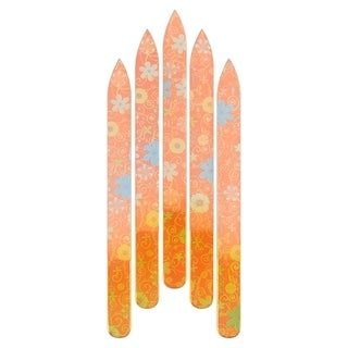 INSTEN Colorful Flower Crystal Glass Nail File for Salon Home Manicure/ Pedicure (Pack of 5)