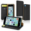 INSTEN Heavy Duty Stand Wallet Leather Case with Card Slots for Apple iPhone 5C