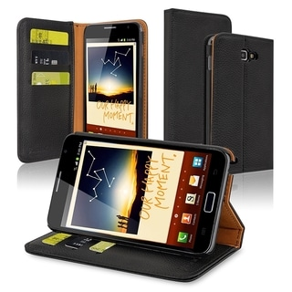 INSTEN Stand Wallet Leather Case with Card Slots for Samsung Galaxy Note N7000