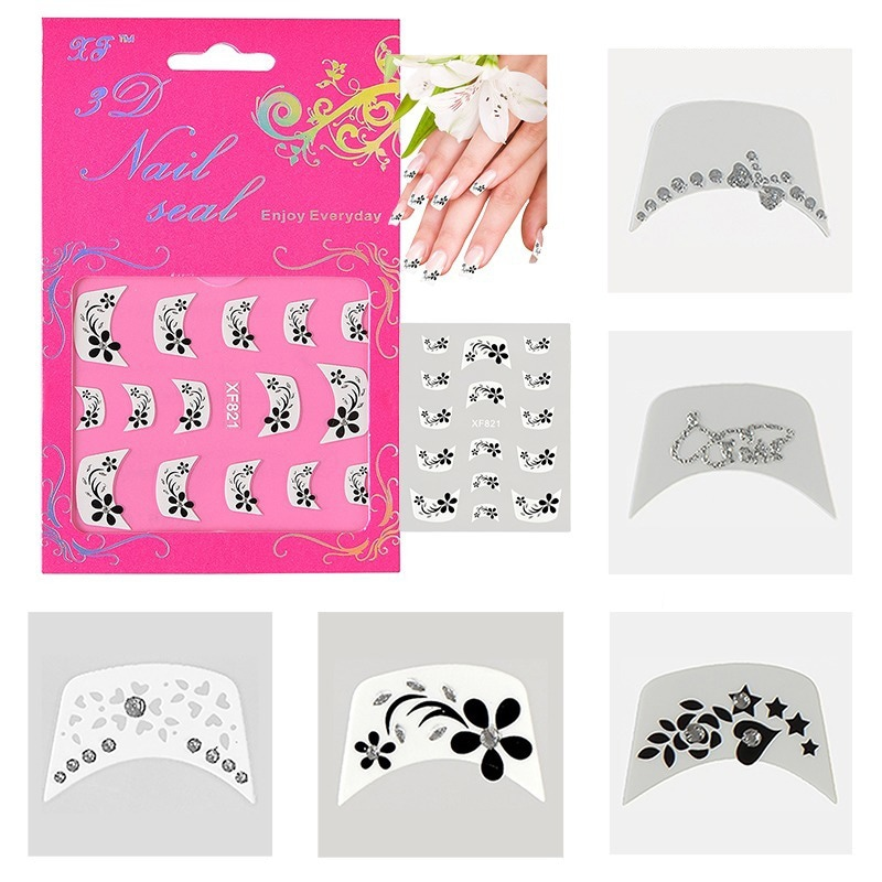 BasAcc 3D French Nail Art DIY Tattoo Stickers