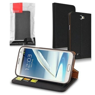INSTEN Stand Wallet Leather Case with Card Slots for Samsung Galaxy Note II N7100