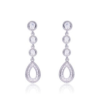 Collette Z Sterling Silver Cubic Zirconia Pear Drop Earrings