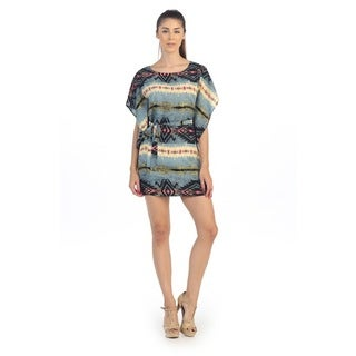 Hadari Women's Contemporary Tribal Dolman Dress