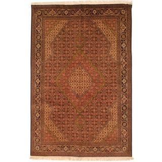 Hand-knotted Persian Tabriz Rust/ Navy Wool Rug (6'8 x 10')
