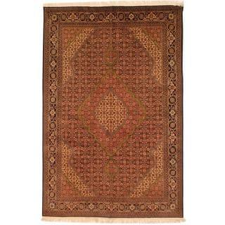 Herat Oriental Hand-knotted Persian Tabriz Rust/ Navy Wool Rug (6'8 x 10')