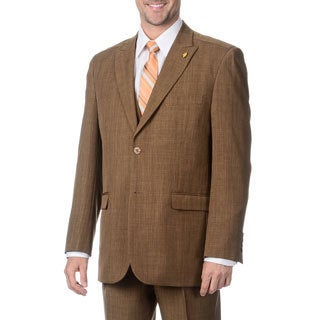Falcone Men's Toast Vested 3-piece Suit