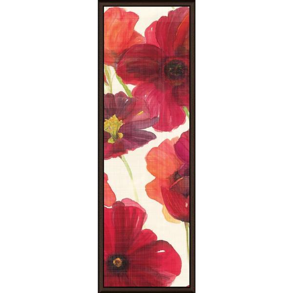 Ellen Gladis 'Red and Orange Poppies II Crop I' Framed Canvas Art