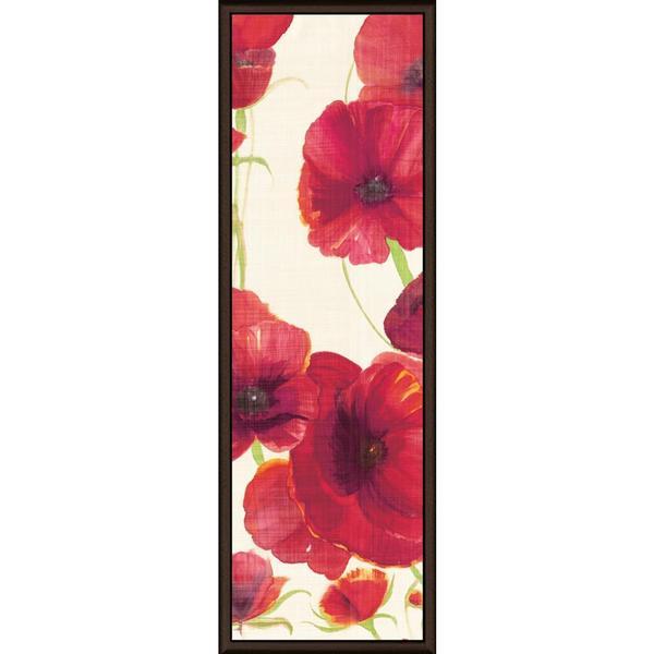 Ellen Gladis 'Red and Orange Poppies II Crop II' Framed Canvas Art