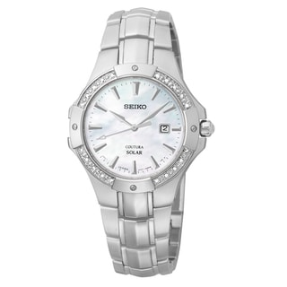Seiko Women's 'Coutura' Stainless Steel Solar Watch