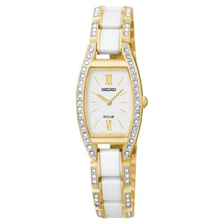 Seiko Women's 'Solar' Crystal Ceramic Watch