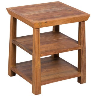 Hand-crafted Teak Kishu Accent Table (India)