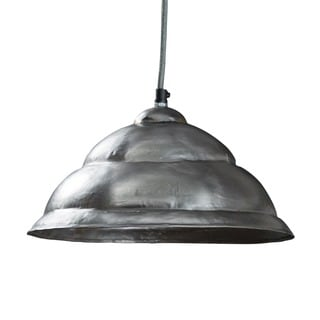 Cornwall Beveled Silvertone Hanging Lamp (India)