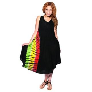 Tie Dye Rasta Beach Sleeveless Summer Dress