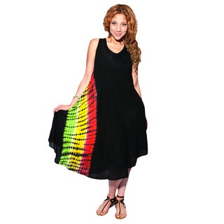 Tie Dye Rasta Beach Sleeveless Summer Dress