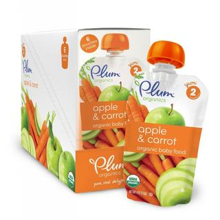 Plum Organics Second Blends Apple and Carrot 4-ounce Pouch (Pack of 6)