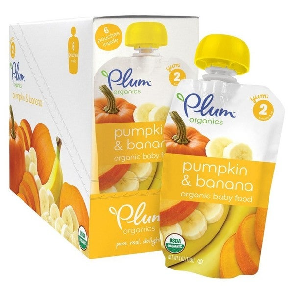 Plum Organics Second Blends Pumpkin & Banana 4-ounce Pouch (Pack of 6)