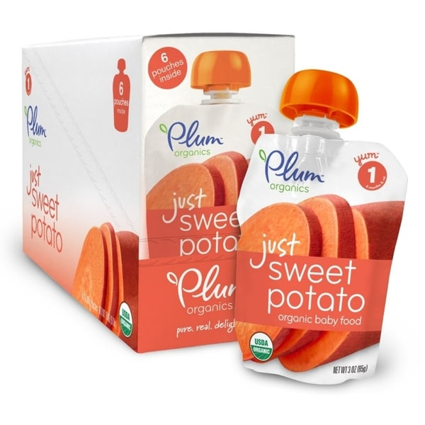 Plum Organics Just Veggies Sweet Potato Pouches (6 Pack)