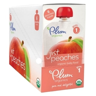 Plum Organics Just Fruit 3.5-ounce Peach Pouch (6 Pack)