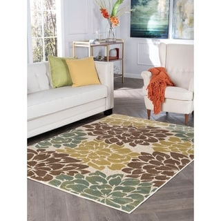 Decora Ivory Transitional Area Rug (7'10 x 10'3)