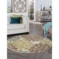 Decora Ivory Transitional Area Rug (7'10 Round)