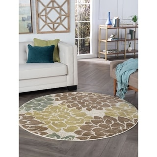 Decora Ivory Transitional Area Rug (5'3 Round)