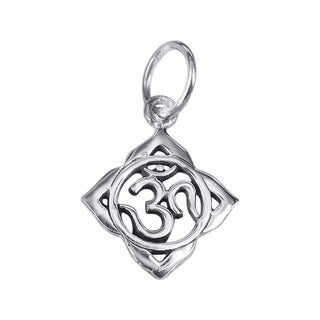 16mm Aum or Om Prayer Sign .925 Silver Pendant or Charm (Thailand)