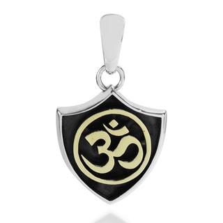 Three Tone Sacred Symbol Aum or Om .925 Silver Pendant (Thailand)