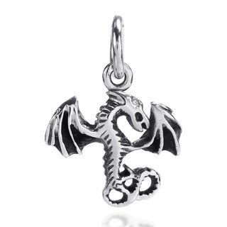 Mini Mythical Dragon Sterling Silver Pendant or Charm (Thailand)