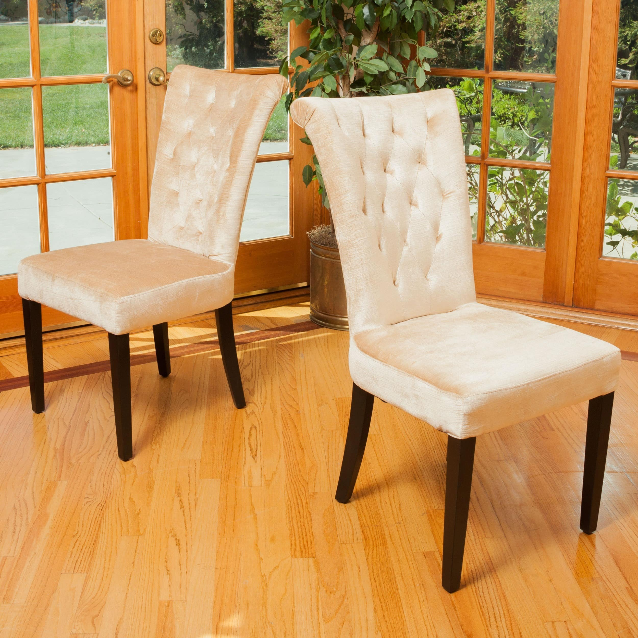 Viola Velvet Dining Chair Set of 2 by Christopher Knight Home