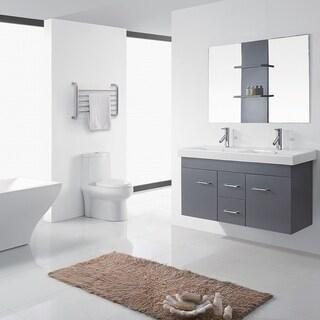 Virtu USA Opal 48-inch Grey Double Sink Vanity Set