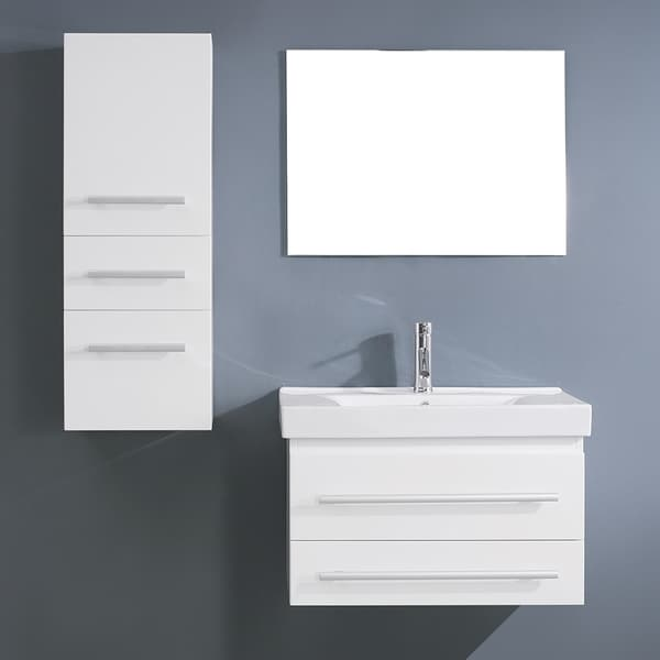 virtu usa antonio 29 inch white single sink vanity set