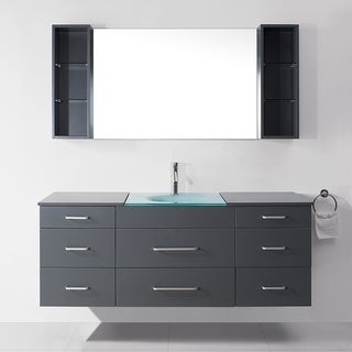 Virtu USA Columbo 63-inch Grey Single Sink Vanity Set