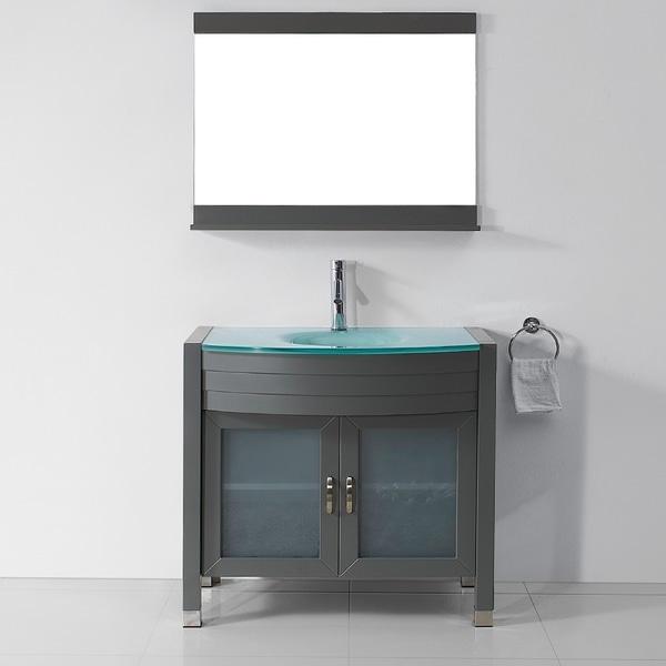 Virtu USA Ava 36-inch Grey Single Sink Vanity Set